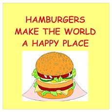 hamburgers Wall Art Poster