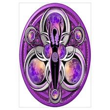 Goddess of the Purple Moon Wall Art