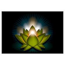 "Green ""Heart"" Chakra Lotus Wall Art"