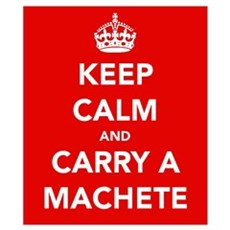 Carry a Machete.... Wall Art Poster