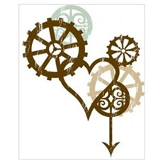 Steampunk Love Wall Art Framed Print
