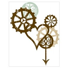 Steampunk Love Wall Art Poster