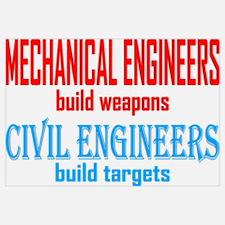 Mechanical vs. Civil Wall Art