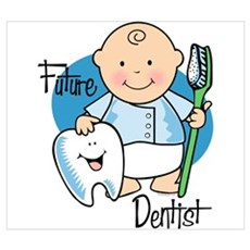 Future Dentist Wall Art Framed Print