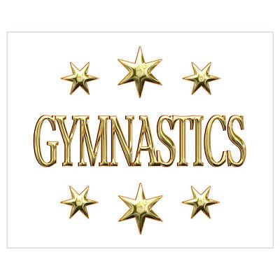 Gymnastics Stars Wall Art Poster