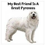 Great pyrenees Wrapped Canvas Art