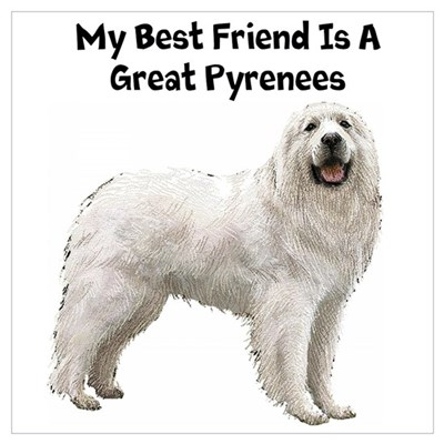 Great Pyrenees Wall Art Poster