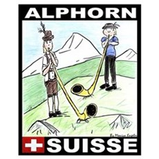 The Alphorn Shop Wall Art Poster