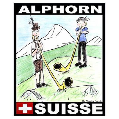 The Alphorn Shop Wall Art Poster