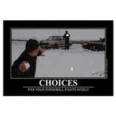 Choices. Wall Art Framed Print