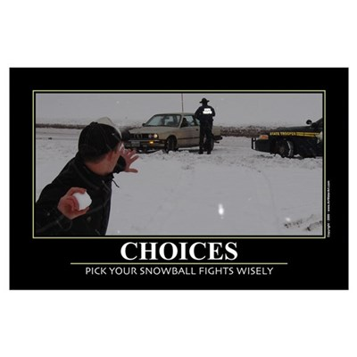 Choices. Wall Art Poster