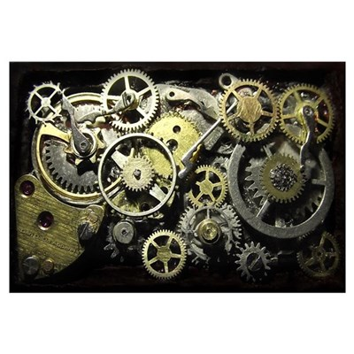 steampunk gears wall art canvas art. Black Bedroom Furniture Sets. Home Design Ideas