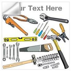 Tools with Gray Text. Wall Art Wall Decal