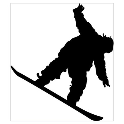 Snowboarding Wall Art Framed Print
