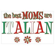 Italian Moms Wall Art Poster