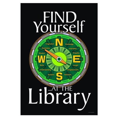 Find Yourself 23x35 Library Poster Canvas Art