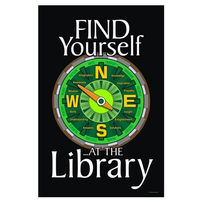 Find Yourself 23x35 Library Poster Poster