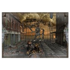 SteamPunk Fighter Wall Art Framed Print