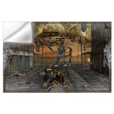 SteamPunk Fighter Wall Art Wall Decal