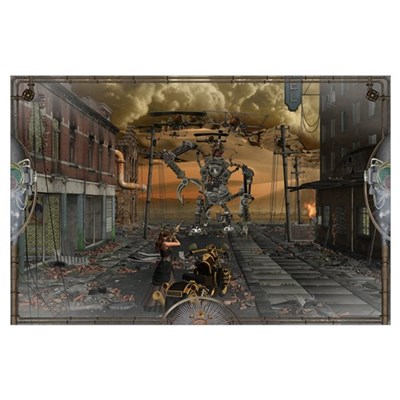 SteamPunk Fighter Wall Art Poster