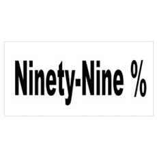 Ninety-Nine Percent Wall Art Canvas Art