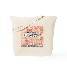 Family Square Uterine Cancer Tote Bag
