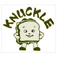 Funny Knuckle Sandwich Wall Art Framed Print