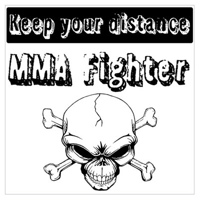 MMA Fighter Wall Art Poster