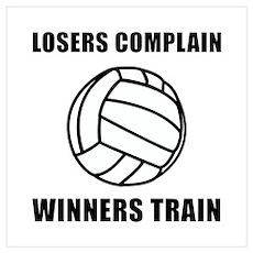 Volleyball Winners Train Wall Art Poster