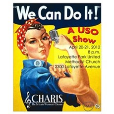We Can Do It! Wall Art Poster
