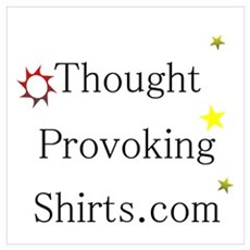 Thought Provoking Shirts logo on Wall Art Framed Print
