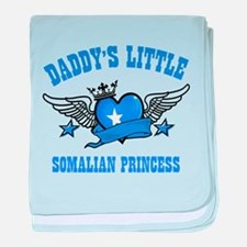Daddy's Little Somalian Princess baby blanket