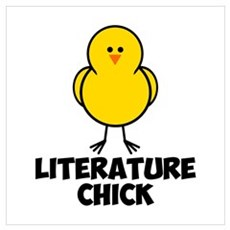 Literature Chick Wall Art Poster