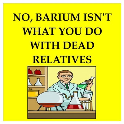 funny chemistry jokes Wall Art Poster