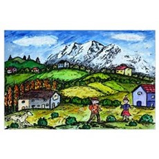 Heidi Country Wall Art Poster