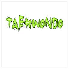 Taekwondo Glow Wall Art Poster