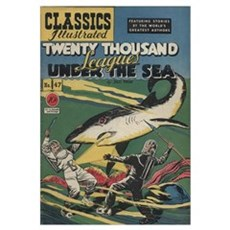 20,000 Leagues Under the Sea Wall Art Poster