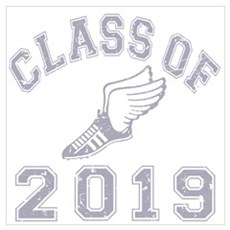 Class Of 2019 Track & Field Wall Art Poster