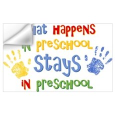 Stays In Preschool Wall Art Wall Decal