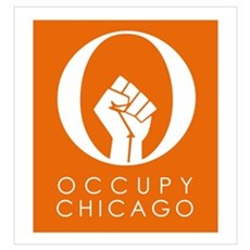 Occupy Chicago Wall Art Framed Print