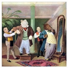 Roosevelt Bears at the Tailors Wall Art Poster