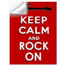 KEEP CALM AND ROCK ON Wall Art Wall Decal