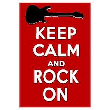 KEEP CALM AND ROCK ON Wall Art