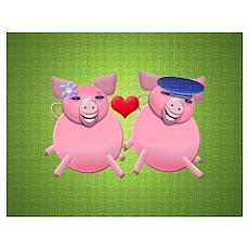 Happy porkies Wall Art Poster
