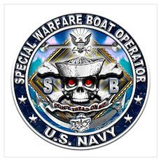 USN Special Warfare Boat Oper Wall Art Poster