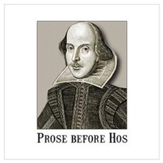 Shakespeare Hos Wall Art Poster
