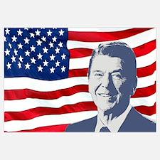 Reagan and Flag Wall Art