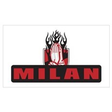 MILAN FLAMES Wall Art Poster