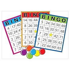 Bingo Cards Wall Art Poster
