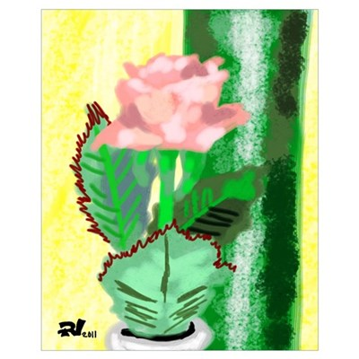 """""""Claire's Flower"""" Wall Art Poster"""